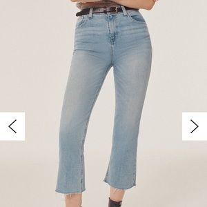 BDG Cropped Kick Flare High Rise Jeans